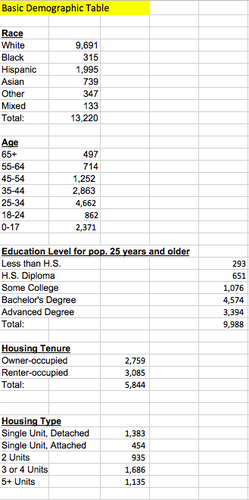 Basic Demography Table