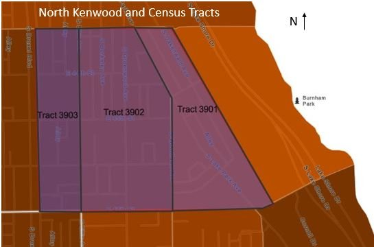 Map 3: North Kenwood and Census Tracts.JPG