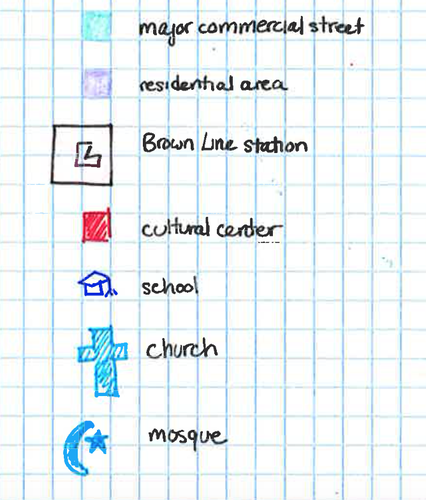 Albany Park Diagram Map Legend