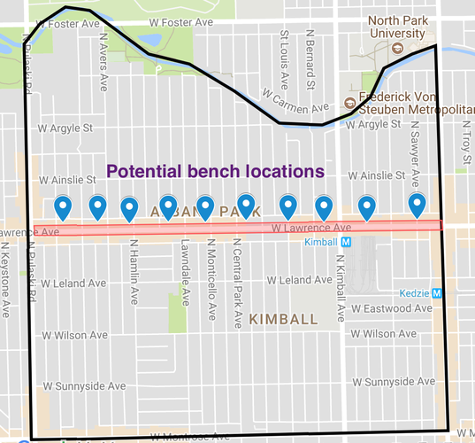 Bench locations