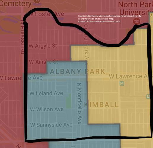 Albany Park Aldermanic Wards